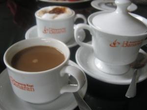 Keharuman secangkir kopi