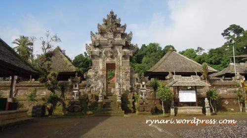 Desa Panglipuran, pura bangunan paling atas dan hulu