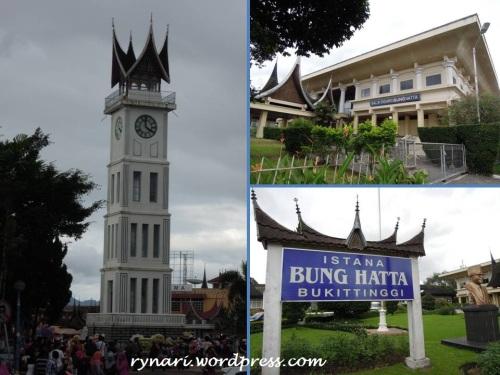 Jam Gadang dan Istana Bung Hatta di Bukittinggi