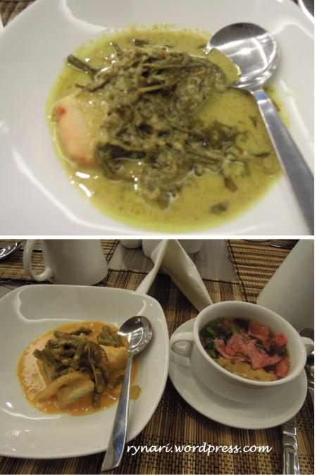katupek sayur dan soto padang
