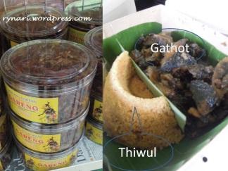 Gathot-Thiwul-Walang Goreng