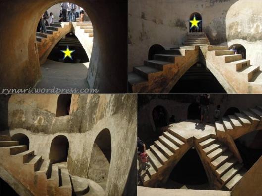 Masjid Pendhem 4 sumur gumuling dan kubah lima anak tangga