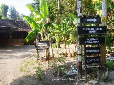 Salah satu homestay desa wisata Tembi