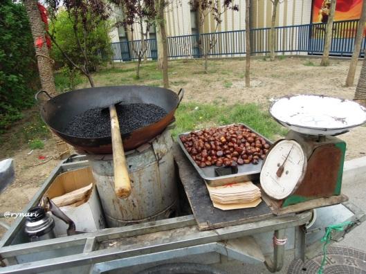 Chinese Chesnut sangan briket batu bara