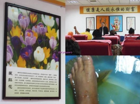 Day 3 khasiat bunga Tibet dan sayangi kaki kiri Anda