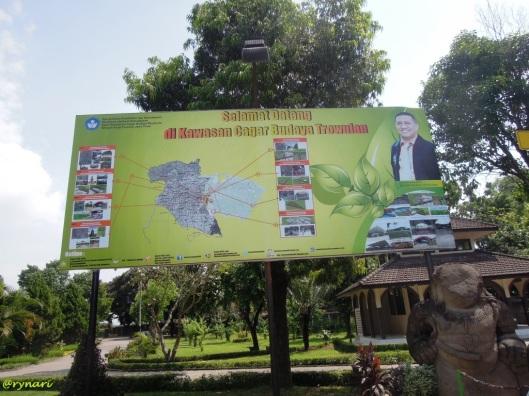 Peta kawasan cagar budaya Trowulan