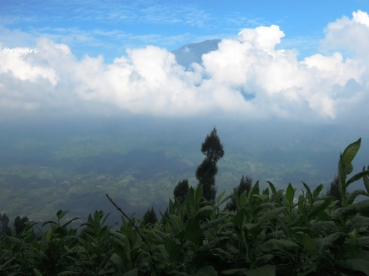 8. Puncak Sumbing berkalung awan