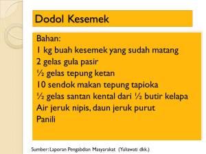 Dodol Kesemek