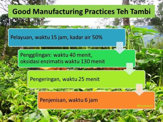 Good Manufacturing Practices Teh Tambi