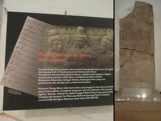 Prasasti Dieng di Museum Kailasa