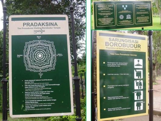 Pradaksina dan sarungisasi Borobudur