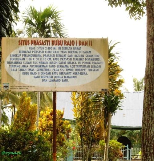 Situs Prasasti Kubu Rajo I dan II