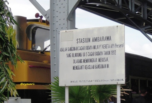 3. Bangunan Cagar Budaya stasiun Ambarawa