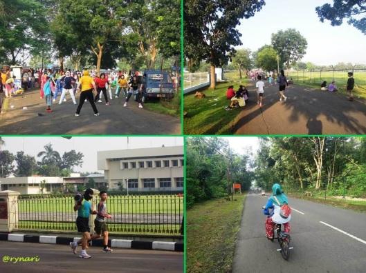 Sehat ala Halim..senam, jalan, sepedaan, lari