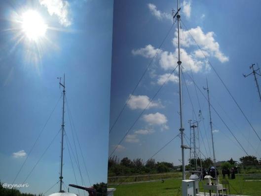 Matahari dan awan berkomunikasi dengan bumi
