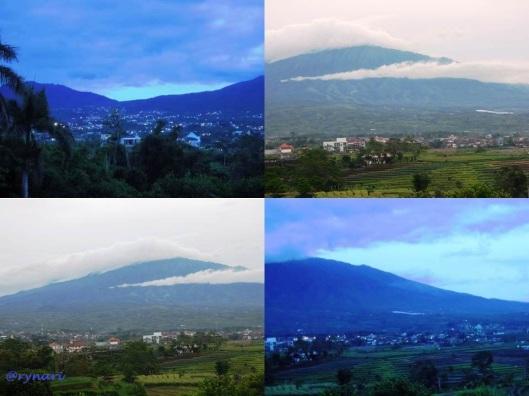Kota Batu berpagar Gunung di pagi hari