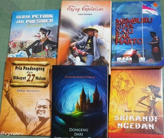 Buku-buku karya Mas Guskar di rak rynari