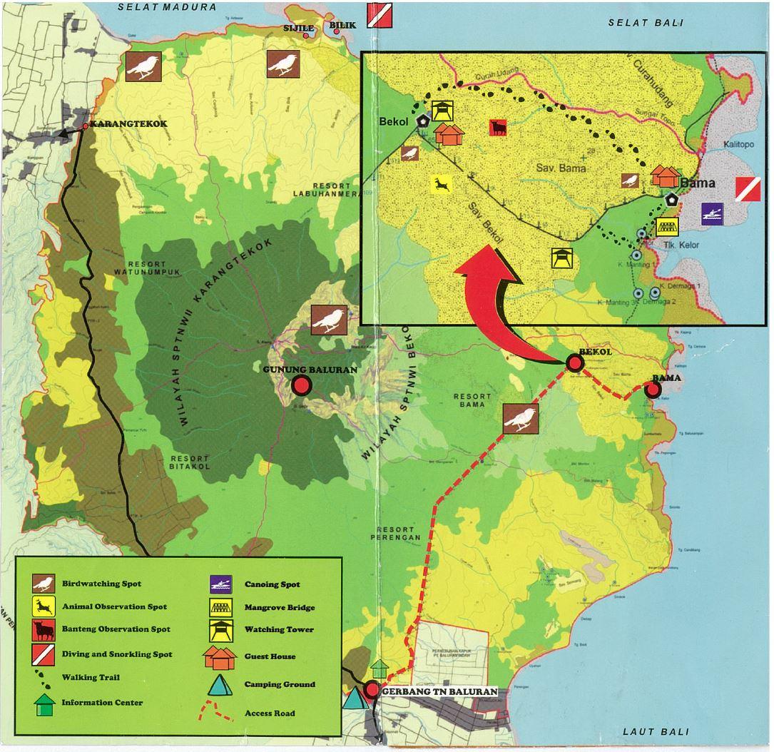 Peta Taman Nasional Baluran (sumber:)